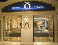 Eingang zu O-Theater durch Cirque du Soleil im Bellagio-Hotel in Las Vegas Lizenzfreies Stockfoto