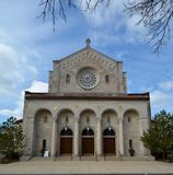 Eingang zu Oak Park Kirche Stockfotografie