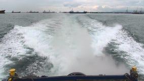 Eingang zu Panamakanal stock footage