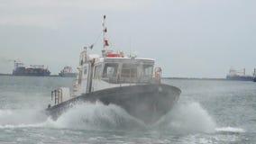 Eingang zu Panamakanal stock video footage