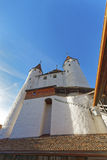 Eingang zu Thun-Schloss in der Schweiz Stockfoto