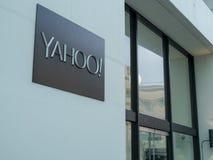 Eingang zu Yahoo hat Gebäudes in im Stadtzentrum gelegenem San Francisc stockfotografie
