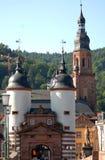 Eingang zum alten Brücke oder Alte Brà ¼ cke in Heidelberg, Deutschland Stockfoto