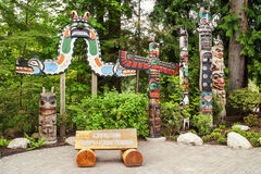Eingang zum Capilano-Fluss-regionalen Park, Vancouver Stockbild