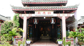 Eingang zum China-Tempel, Hoi, Vietnam Lizenzfreies Stockfoto