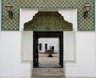 Eingang zum Fort in Abu Dhabi Stockbild