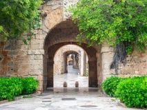 Eingang zum Fort, Palma de Mallorca, Spanien stockfotos