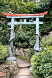 Eingang zum Garten Stockfoto