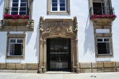 Eingang zum Haus in Porto Lizenzfreie Stockfotografie