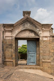 Eingang zum historischen Dindigul-Felsen-Fort stockbilder