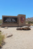 Eingang zum Joshua-Baum-Nationalpark Lizenzfreie Stockfotografie