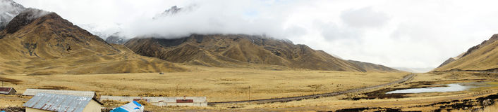 Eingang zum La Raya und Pukara, Puno, Peru Lizenzfreies Stockbild