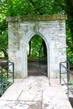 Eingang zum Mönch ` s Fischenhaus bei Cong Abbey, Grafschaft Mayo, Irland Lizenzfreies Stockfoto