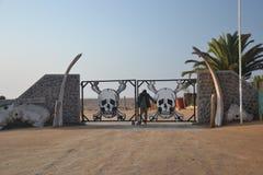 Eingang zum Nationalpark der Skeleton Küste Stockfotografie