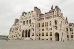 Eingang zum Parlaments-Gebäude, Budapest, Ungarn Stockfotografie