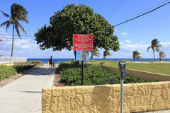 Eingang zum Pompano-Strand, Florida Stockbild