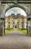 Eingang zum Portumna Schloss in Irland. Stockfotografie