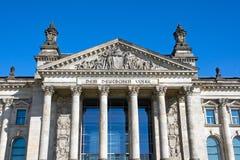 Eingang zum Reichstag Stockbild
