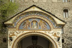 Eingang zum Rila-Kloster, Bulgarien Lizenzfreies Stockfoto