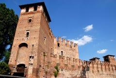 Eingang zum Schloss in Verona Stockfotografie