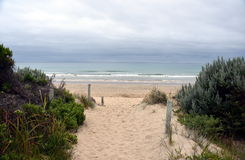 Eingang zum Strand Lizenzfreies Stockfoto