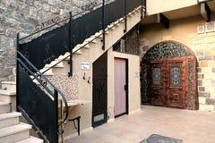Eingang zum Synagoge-Baum des Lebens Stockfoto