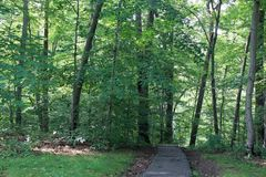 Eingang zum Tal-Garten-Park in Greenville, Delaware, USA lizenzfreies stockfoto