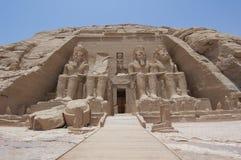 Eingang zum Tempel bei Abu Simbel Lizenzfreie Stockfotos