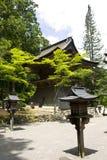 Eingang zum Tempelkomplex auf Montierung Koya Stockfotografie