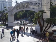 Eingang zum Trugbild Las Vegas stockbild