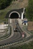 Am Eingang zum Tunnel Stockfotografie
