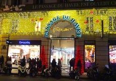 Eingang, zum von DU Havre passieren zu lassen - bedeckter Einkaufssäulengang in Paris stockfoto