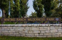 Eingang zum Weißfisch-Ranch-Wildnis-Park stockbild