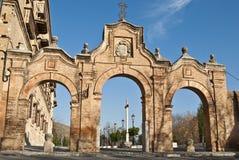 Eingang zur Abtei von Sacromonte Lizenzfreie Stockfotos