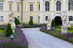 Eingang zur Altenburg-barocken Abtei, Niederösterreich lizenzfreie stockbilder