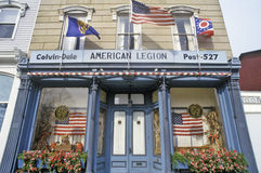 Eingang zur amerikanischen Legion Hall in Seneca Falls, NY Stockbild