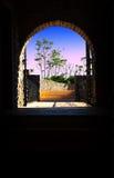 Eingang zur Aussichtsplattform der Budva-Zitadelle Montenegr lizenzfreie stockfotografie