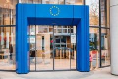 Eingang zur Europäischen Gemeinschaft Stockfoto