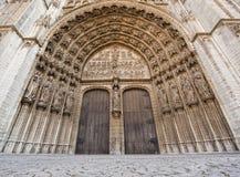 Eingang zur Kathedrale unserer Dame in Antwerpen, Belgien Lizenzfreies Stockfoto