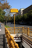 Eingang zur Metro-Station in Budapest Stockfotografie