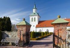 Eingang zur schwedischen Kirche Lizenzfreie Stockfotos