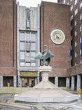Eingang zur Stadt Hall Oslo Norway lizenzfreie stockfotos