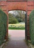 Eingangs-Kommunikationsrechner zu einem Vista der Frühlings-Blumen Lizenzfreies Stockbild