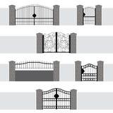 Eingangs-Tor-Tür-Zaun Garden Lizenzfreies Stockfoto
