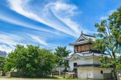 Eingangs-Tor von Okayama-Schloss oder von Krähen-Schloss Lizenzfreies Stockfoto