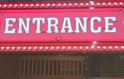 Eingangs-Zeichen Lizenzfreie Stockbilder