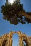 Eingangsbogen, Jerash Stockfotos