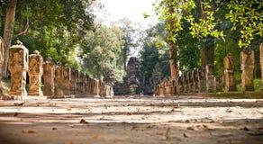 Eingangsdurchgang von Preah Khan Temple, Kambodscha Stockfotos