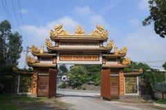 Eingangstempel Chau Thoi in Binh Duong-Provinz, Vietnam stockfotos