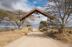 Eingangstor zu Serengeti lizenzfreie stockfotografie
